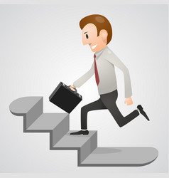 Office man in a hurry vector