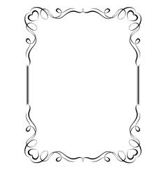 ornamental frame vector image vector image