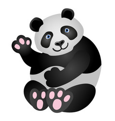 panda mascot it is sitting and smiling vector image