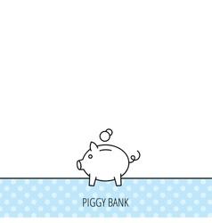 Piggy bank icon Money economy sign vector image vector image