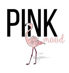 Pink mood flamingo design pink exotic bird vector