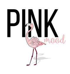pink mood flamingo design pink exotic bird vector image
