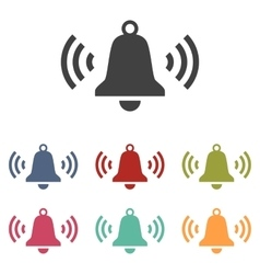 Ringing bell icons set vector