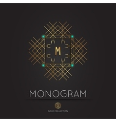 Royal modern monogram logo template vector