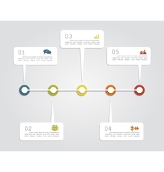 Timeline infographic layout template vector image vector image