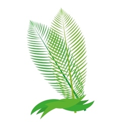 Tropical leaf icon Nature concept vector image vector image