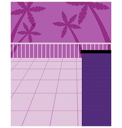 Tropical Street Scene vector image