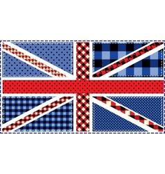 United Kingdom Flag patchwork vector image vector image