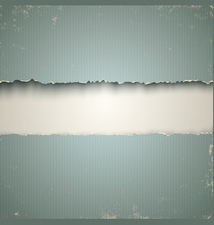 White and torn old paper background vector