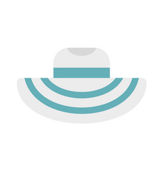 women beach hat icon flat style vector image