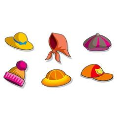 Set of headdresses vector image