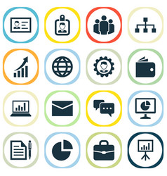 Job icons set collection of increasing leader vector