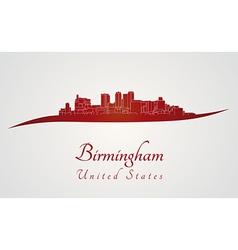 Birmingham al skyline in red vector