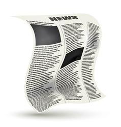 Crumpled newspaper vector