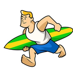 Surfer boy vector