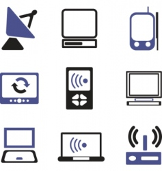 data computer signs vector image