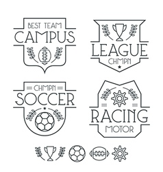 Sport badges and icons vector