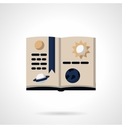 Astronomy book flat color icon vector