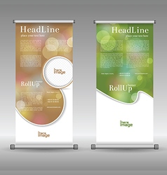 Beauty care roll up banner design vector