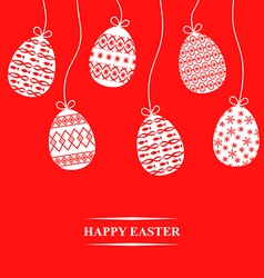 Easter hang card red vector