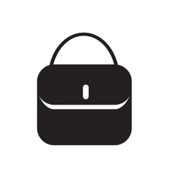 Flat icon in black and white ladies handbag vector