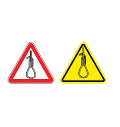 Warning sign attention hangman hazard yellow sign vector