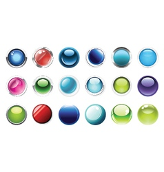 glossy buttons mega set vector image