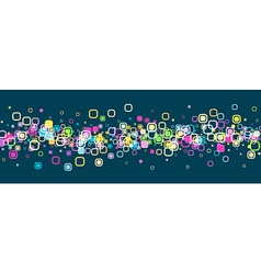 Banner with geometric pattern vector image