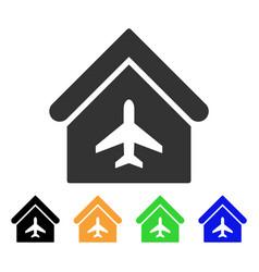 Aircraft hangar icon vector