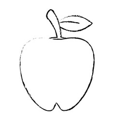 Apple food diet healthy sketch vector