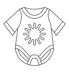 Baby bodysuit icon outline style vector