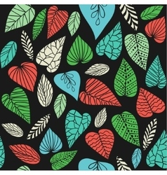 Background with abstract leaves vector image vector image