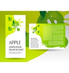 brochure green apple splash vector image