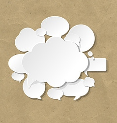 Cardboard With Speech Bubble vector image