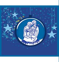 Christian christmas nativity scene of baby jesus vector