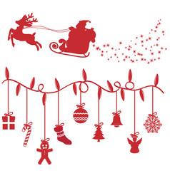 Christmas design elements shillouette vector