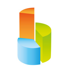 Colorful silhouette with circular statistics vector