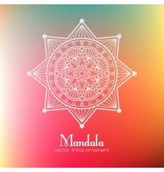 Ethnic round mandala vector image