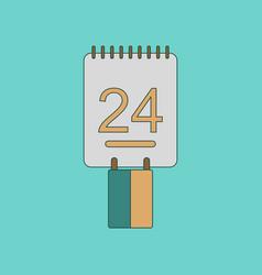 flat icon on background calendar ukraines vector image