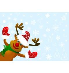Funny cartoon deer vector image vector image