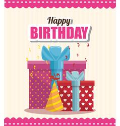 gift box present birthday card vector image vector image