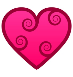 Heart with swirls vector image vector image