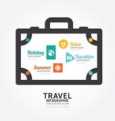 infographics travel luggage design diagram line vector image vector image