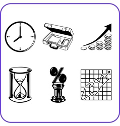 Items Office - business set vector image vector image