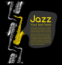 Jazz and blues poster vector
