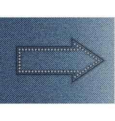 jeans arrow vector image vector image
