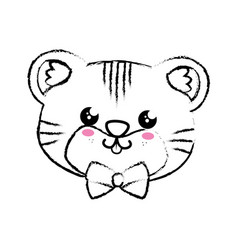 Kawaii tiger icon vector
