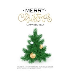 Merry christmas poster with a christmas vector