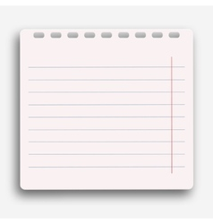modern notebook on white background vector image
