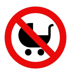 No baby carriage sign vector